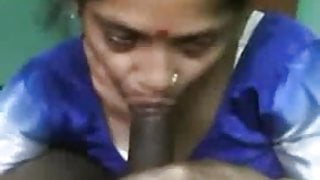 Satin Silk Saree maid sucking dick