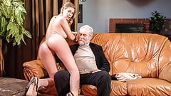 XXX SHADES - Blonde doll sex adventure with old grandpa