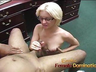 Lusty slut used her hands on this guys stiff dick