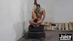 Handsome jock gets his ass fucked raw by a horny muscle guy