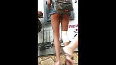 Teen Bare Legs Tight Ass Upshorts