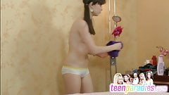 Deluxe skinny teen trouble fuck with close holes 121