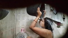 Sexy babe Rupali caught bathing