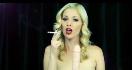 Charlotte Stokely smoking Blowjob