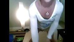 Crossdresser solo webcam tease