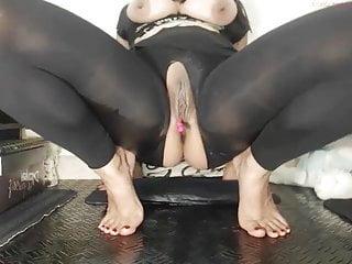 Squirting webcam fun