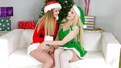 Merry Breastmas - lesbian scene with Stella Cox and Ang