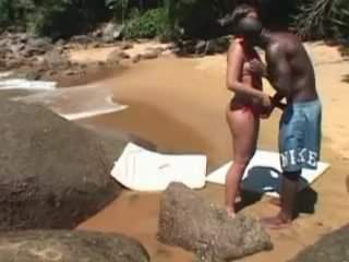 Cuck lets locals fuck his wife on beach
