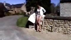 Nadine France - Flashing in village