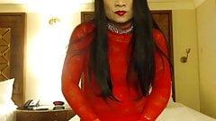 Red Fishnet Dress 2