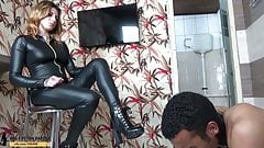 Female Domination Spanking Toilet Humiliation by Mrs RedHead