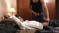 Naughty student pumps an old fag at home