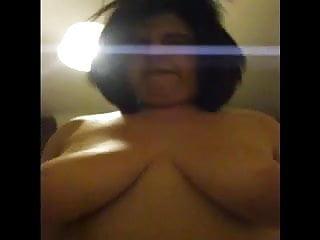 Fat bbw slut riding cock POV