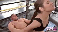 PURE XXX FILMS Lucie gives all shes got at gym