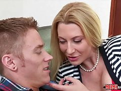 Blonde on Blonde Threesome with Mom