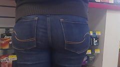 Cute white butt in jeans