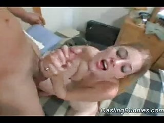 Casting sexy bunny doing hard blowjob sex and pussy licked