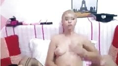 Webcam Blonde Shemale Masturbation,By Blondelover.