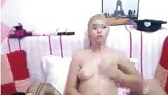 Webcam Blonde Shemale Masturbation,By Blondelover.