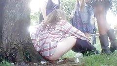 Women Pissing Outside