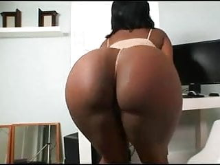 Black chick showing off her hairy pussy