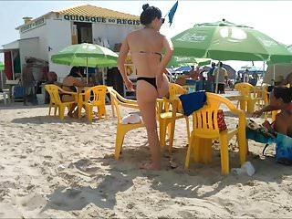 Spy and Voyeur sexy thong bikini Tan butt hot girl