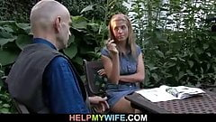 Guy fucks his young wife from behind