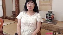 Japanese granny Yuki Yoneyama riding cock
