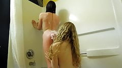 two hot teens under the shower
