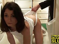 Brunette babe Valentina Bianco hammered roughly by Pascal