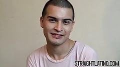 Turned gay latino blows dick before POV bareback and facial