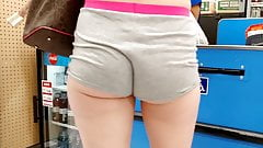 Legs and butt cheeks short shorts voyeur