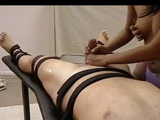 Naked Girls Tied Down Handjob