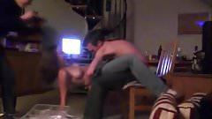 Amateur topless lapdance