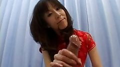 Jpn hairless mature handjob