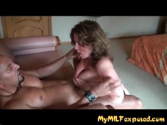 My MILF Exposed Thik mom in fishnets sucking and fucking BBC