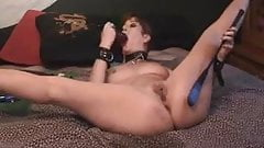 RIDING CROP AND DILDO SQUIRT