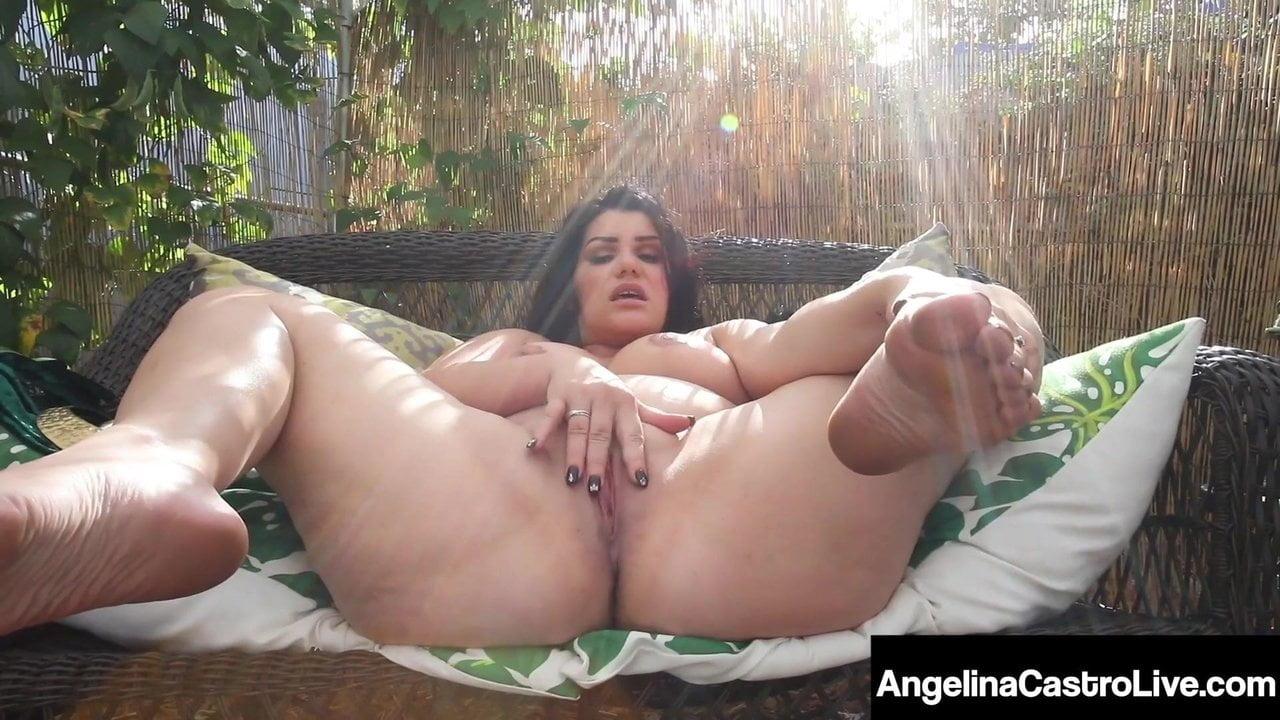 Curvy Cuban Angelina Castro Blows Her Hard Cock Camera Man!