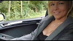 German Milf Creampie Outdoor