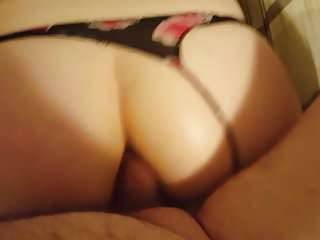 Friend taking my cock in her ass.