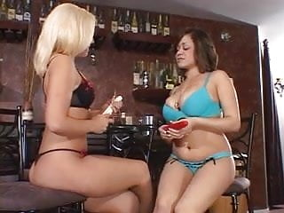 3 hotties in heat, having fun in the bar