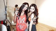 Cum Tribute Kim Hyuna and Jessi #1