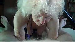 Wrinkled Granny sucking Dick