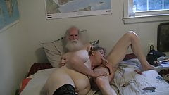 1of4 Dad playing with his sissy's clit and filling her holes