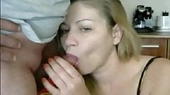 MILF CamSlut fucks sucks and gets cum on mouth