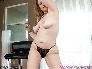 Curvy MILF Vicky Vixen Orally Taming Trouser Snake