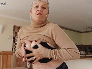 Busty grandma with hungry old cunt