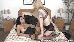 Strapon, lesbians, anal sex, femdom