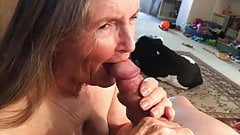 Grandma loves the taste of cum