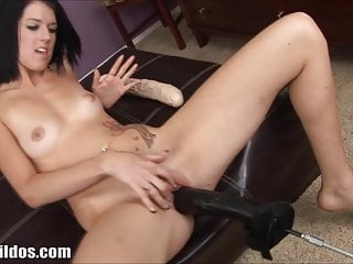 Dildos fucking - Brutal dildos fucking machine pounds her pussy in hd